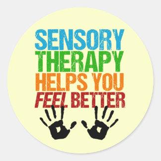 Terapia sensorial linda OT Handprints Pegatina Redonda
