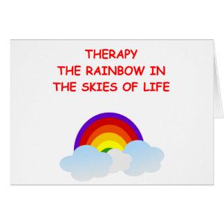 terapia tarjeta de felicitación