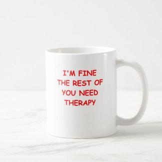 terapia taza básica blanca