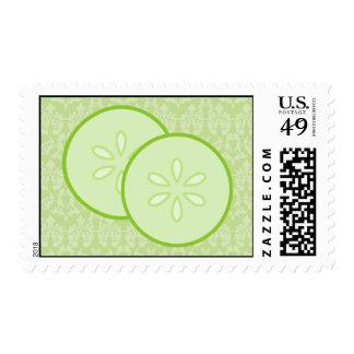 Terapia verde del masaje del balneario del damasco timbre postal