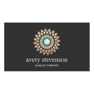 Terapia y yoga del masaje del logotipo de la tarjetas de visita