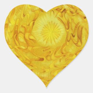 Tercer arte curativo #3 de Chakra Pegatina En Forma De Corazón