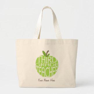 Tercer bolso del profesor del grado - Apple verde Bolsa Tela Grande
