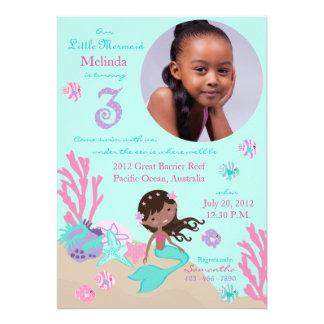 Tercer cumpleaños de la sirena africana anuncios