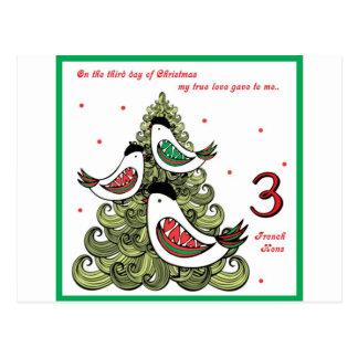 Tercer día de navidad tarjeta postal