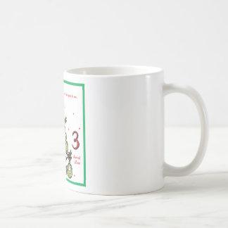Tercer día de navidad tazas de café
