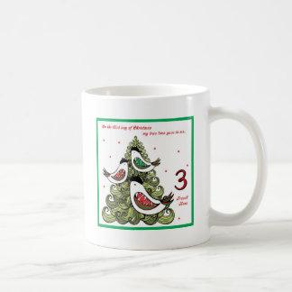 Tercer día de navidad taza de café