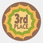 Tercer ganador de la cinta del lugar etiqueta redonda