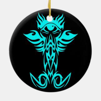 Tercer ojo con las alas ciánicas ornamento de reyes magos