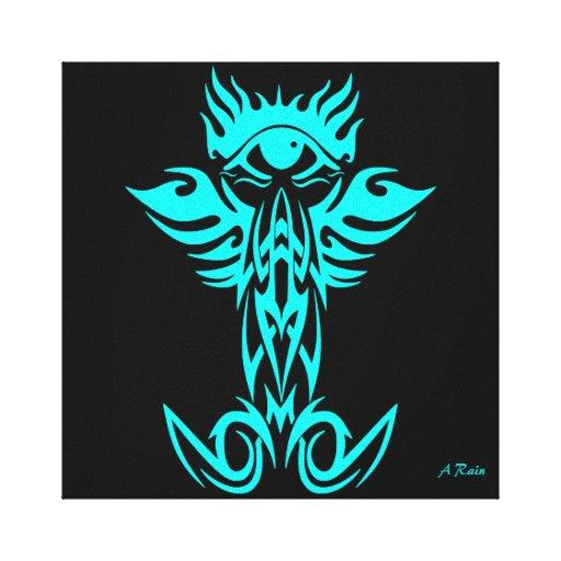 Tercer ojo con las alas ciánicas impresión en lona estirada