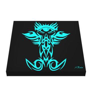 Tercer ojo con las alas ciánicas lienzo envuelto para galerias