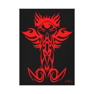 Tercer ojo con las alas rojas