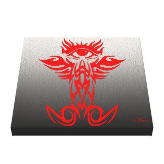 Tercer ojo con las alas rojas impresion de lienzo