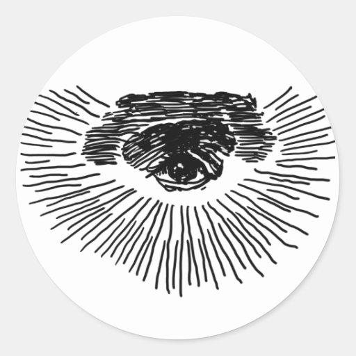 Tercer ojo pegatina redonda