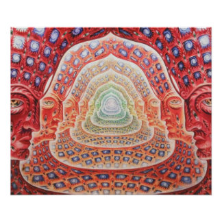 Tercer ojo y universos psicodélicos póster