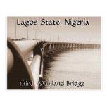 Tercer puente del continente, estado de Lagos, Nig Tarjeta Postal