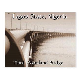 Tercer puente del continente, estado de Lagos, Postal