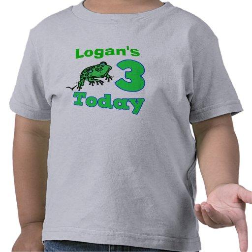 Tercera camisa del muchacho del cumpleaños de la r