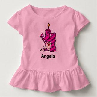 Tercera camiseta del cumpleaños del payaso rosado