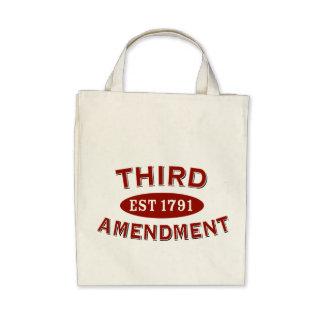 Tercera enmienda Est 1791 Bolsas