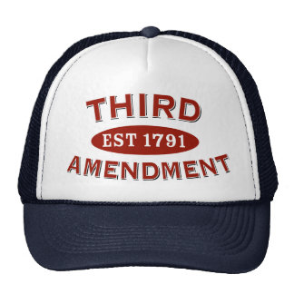 Tercera enmienda Est 1791 Gorros