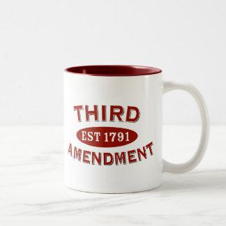 Tercera enmienda Est 1791 Tazas