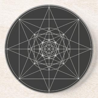Tercera geometría sagrada dimensional posavasos de arenisca