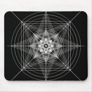 Tercera geometría sagrada dimensional tapete de ratón