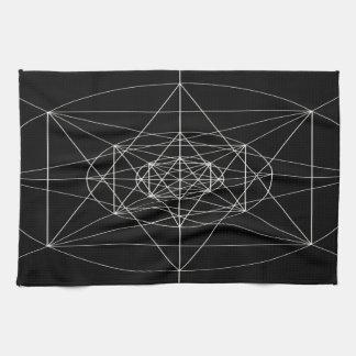 Tercera geometría sagrada dimensional toallas