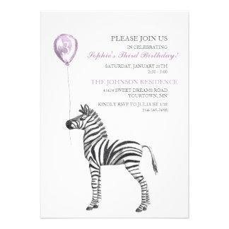 Tercera invitación de la fiesta del cumpleaños del