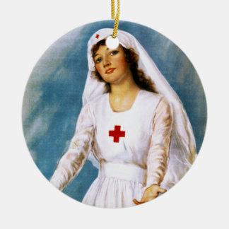 Tercera lista de la Cruz Roja, 1918 Adorno Redondo De Cerámica