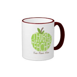 Tercera taza del profesor del grado - Apple verde