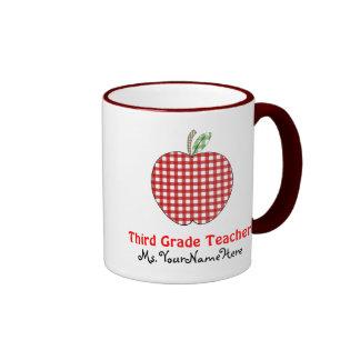 Tercera taza del profesor del grado - guinga roja