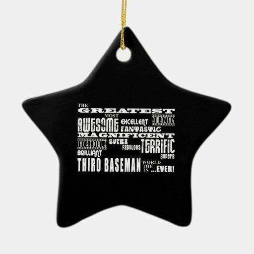 Terceras bases del béisbol: La tercera base más gr Ornamento Para Arbol De Navidad
