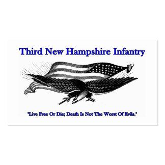 Terceras tarjetas de visita de la infantería de Ne
