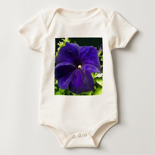 Terciopelo azul body para bebé