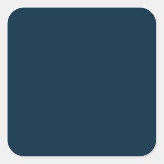 Terciopelo azul de medianoche calcomanía cuadradas personalizada