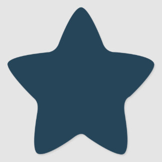 Terciopelo azul de medianoche calcomania forma de estrella