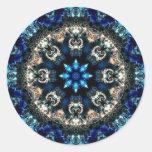 Terciopelo azul pegatinas