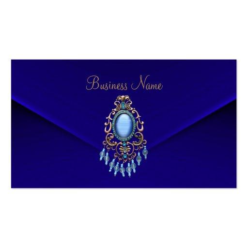 Terciopelo azul profundo de la joya azul claro ado tarjetas de visita