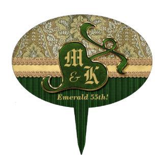 Terciopelo de color verde oscuro del oro antiguo c decoración para tarta
