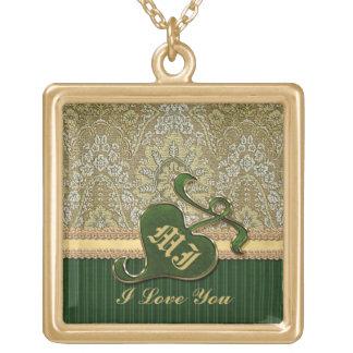 Terciopelo de color verde oscuro del oro antiguo c joyerías