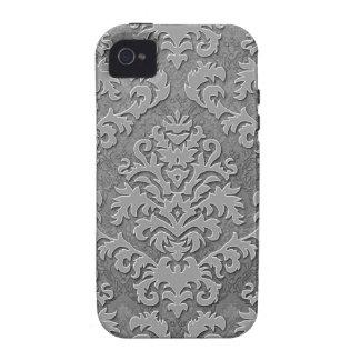 Terciopelo del corte del damasco, damasco doble mo vibe iPhone 4 fundas