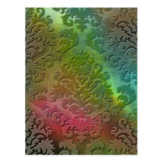 Terciopelo del corte del damasco, extracto del sat postal