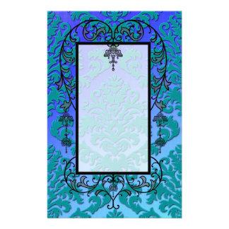 Terciopelo del corte del damasco, hecho excursioni papeleria de diseño