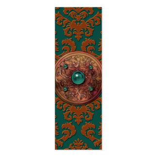 Terciopelo del corte del damasco medallón tarjeta de visita