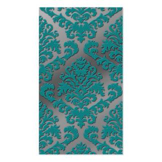 Terciopelo del corte del damasco metálico de plat tarjeta de visita