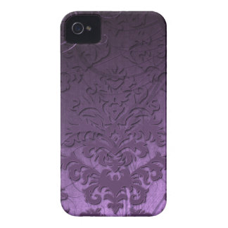 Terciopelo del corte del damasco, remolinos ostent Case-Mate iPhone 4 cárcasa