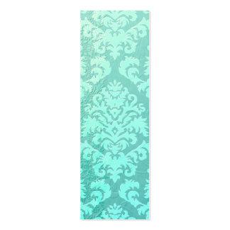 Terciopelo del corte del damasco, satén grabado en tarjetas de visita mini
