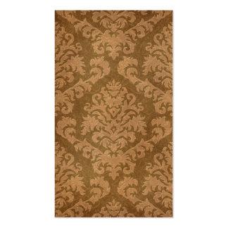Terciopelo del corte del damasco, tapicería en tarjetas de visita
